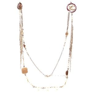 Pearls Gripoix Gold Hardware Long Necklace